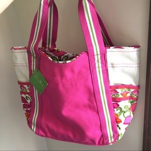 New Vera Bradley colorblock small tote bag